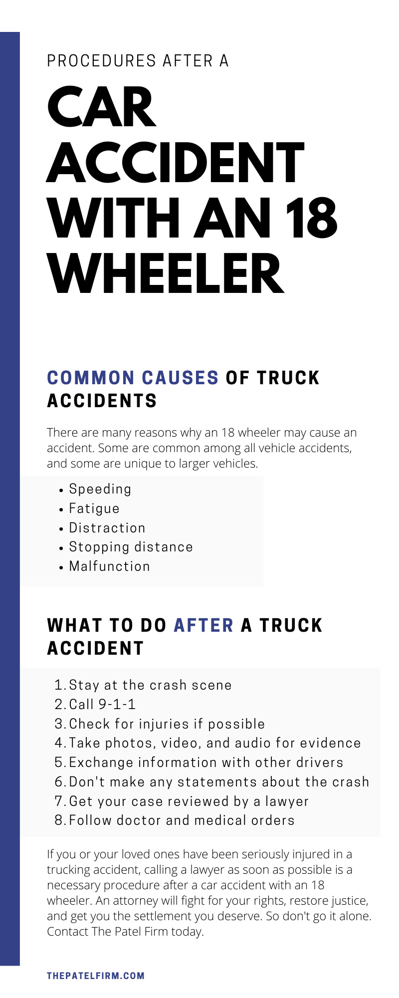 Procedures After a Car Accident With an 18-Wheeler